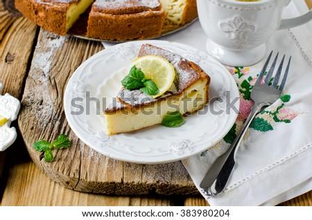 Cottage cheese casserole - stock photo