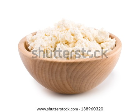 Cottage cheese. Curd isolated on white (with clipping path)
