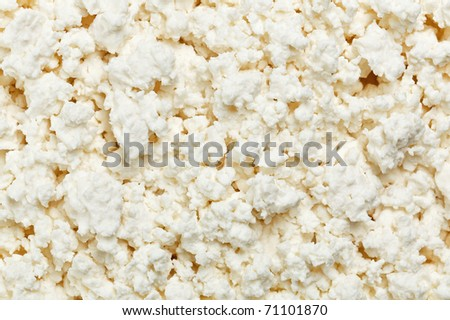 Cottage cheese (curd) top view, food background - stock photo