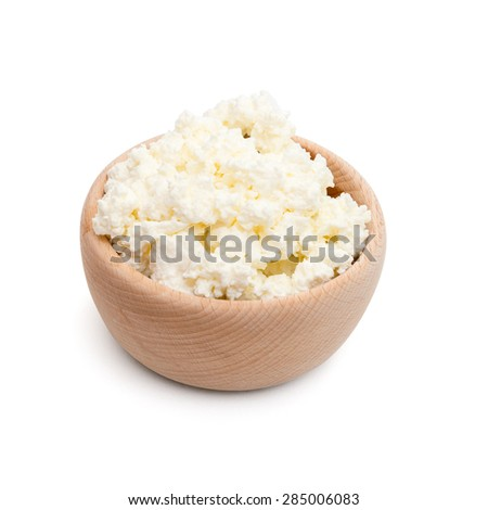 Cottage Cheese Isolated On White