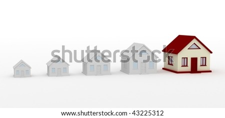 Cottage on a white background is easy to use in their design