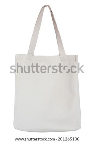 Cotton bag isolated on white background. - stock photo