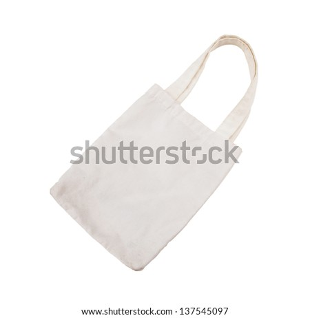 cotton bag on white isolated background