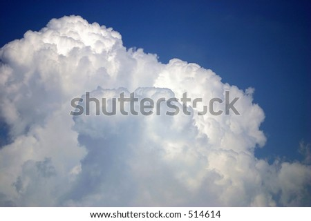 Cotton candy clouds - stock photo