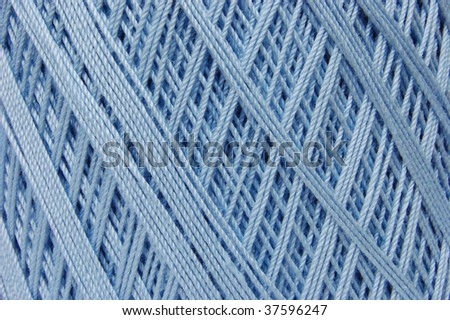 Cotton crochet thread in baby blue