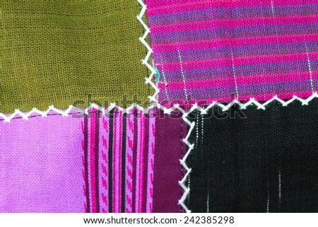 Cotton Fabric in Thailand.  - stock photo