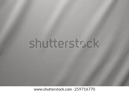 Cotton Fabric Texture. Top View of Cloth Textile Surface. Grey Clothing Background. Text Space - stock photo