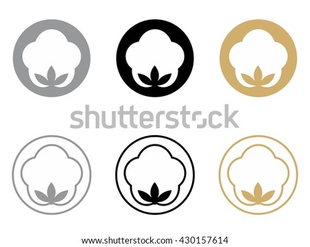 COTTON ICON SYMBOL IN GOLDEN BLACK GREY