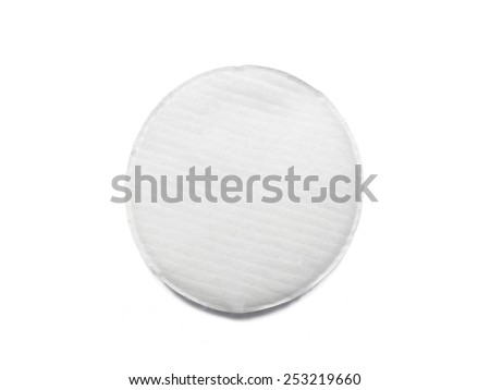 Cotton pad isolated on white - stock photo