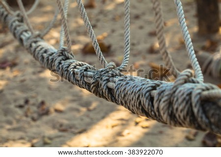 Cotton ropes with knot