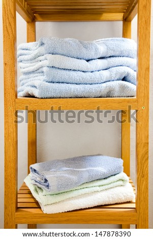 cotton wool hand towel stand for bathroom - stock photo