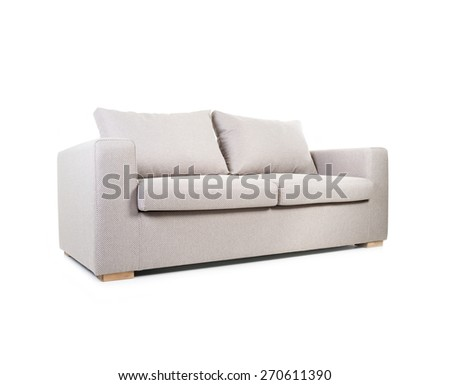 Couch isolated on white - stock photo