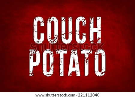 COUCH POTATO - green chalkboard concept