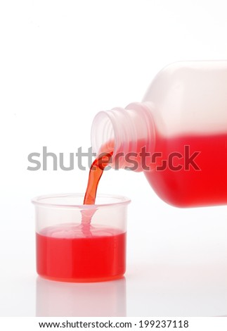 Cough and Cold medicine - stock photo