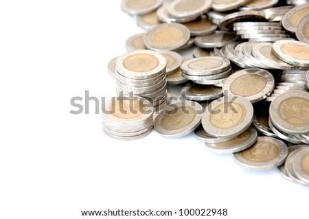 count money  on white isolate - stock photo