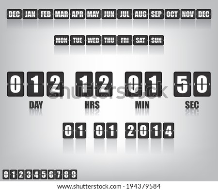Countdown Timer and Date - stock photo