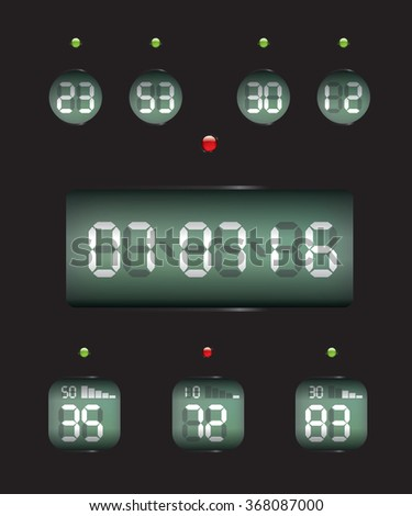 Countdown Timer date and clock - stock photo
