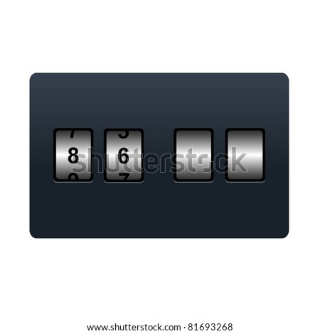Countdown Tmer, Isolated On White Background - stock photo