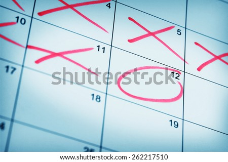 Countdown to the Date - stock photo