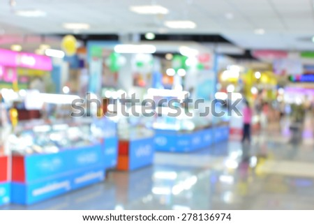 Counter blur store with bokeh background - stock photo