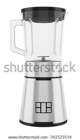 countertop blender isolated on white background - stock photo