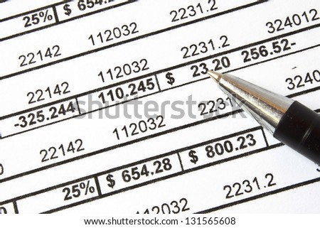 Counting and finance concept - stock photo
