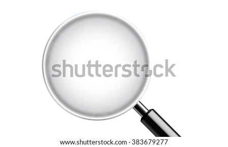 counting glass in white background