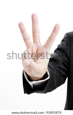 counting hand - stock photo