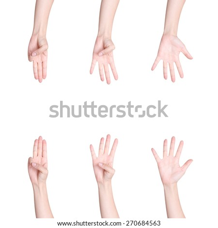 Counting hands isolated