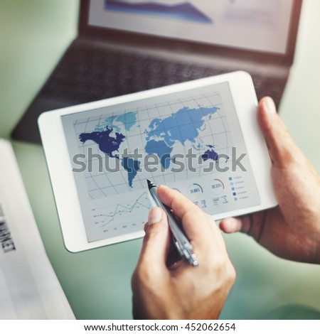 Countries Internet Communication businessman Concept