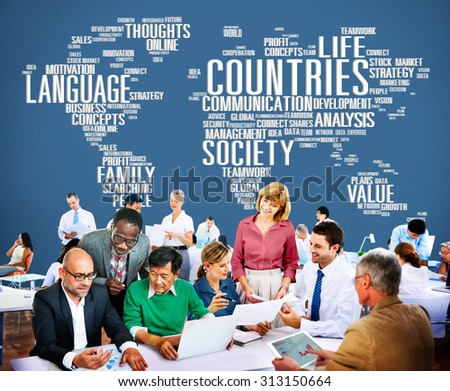 Countries Language Society Family Meeting Concept - stock photo