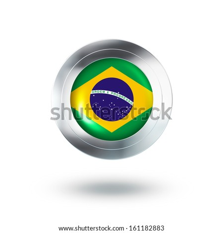 Country Banner, Button Design of Brazil