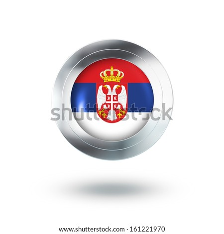 Country Banner, Button Design of Serbia