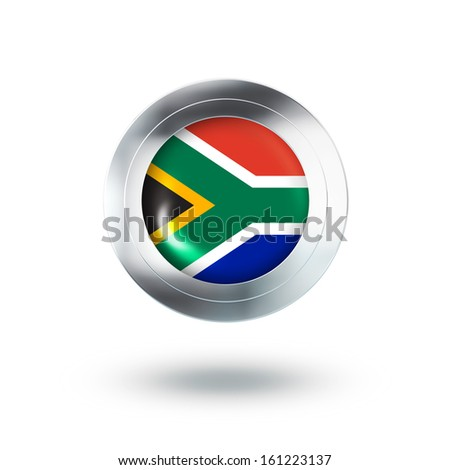 Country Banner, Button Design of South Africa
