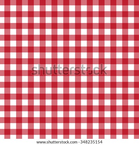 Country, classic, picnic, checkered red pattern.