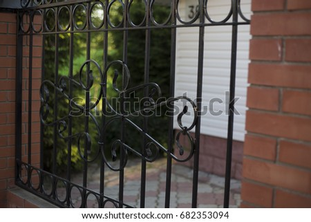 Country house fence and gate