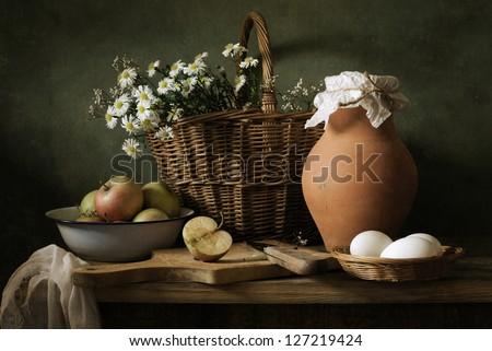 Country life still life - stock photo