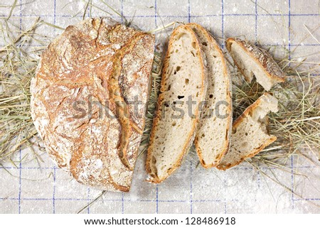 Country Loaf Sliced - stock photo