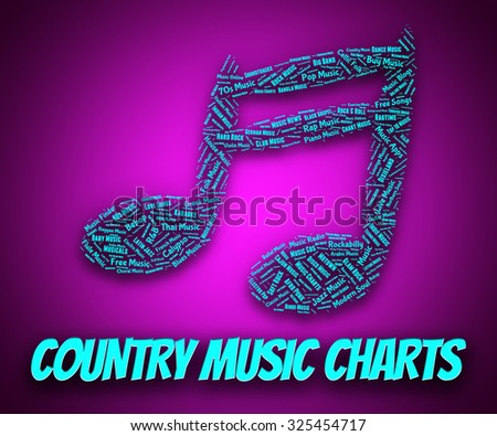 Country Music Charts Showing Hit Parade And Harmony