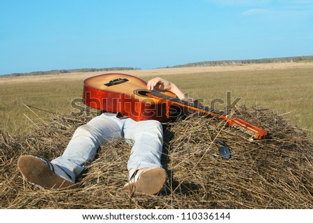 Country Music Girl - stock photo