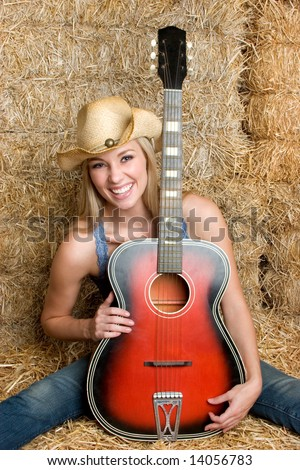 Country Music Woman - stock photo