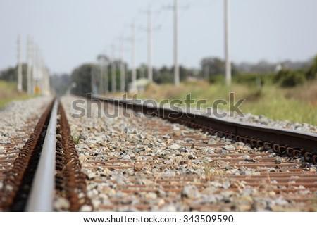 Country Railroad Griffith, NSW, Australia 3 - stock photo