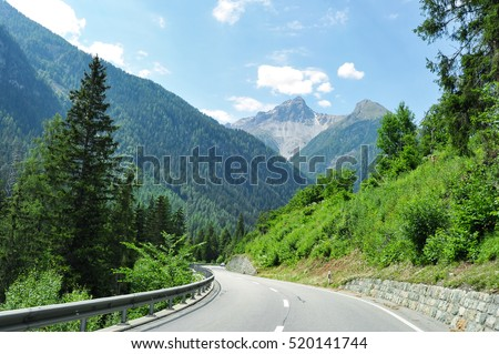 Country road in the alps