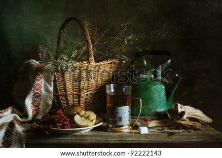 Country still life - stock photo