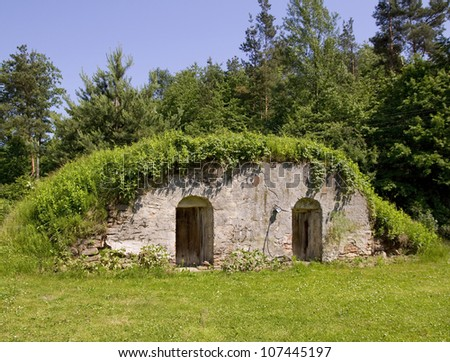 country stone cellar for preserving wine, dairy products or vegetables
