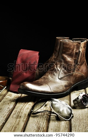 Country style leather - stock photo