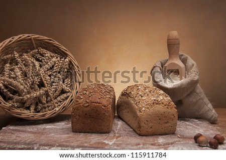 Country theme with bread
