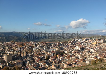 country view Enna Sicily, Italy - stock photo