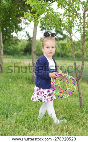 Country young child girl  - stock photo