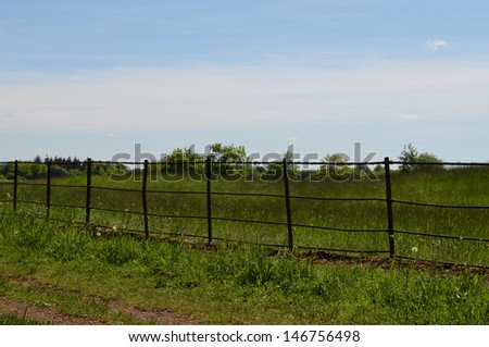 Countryside Fence  - stock photo